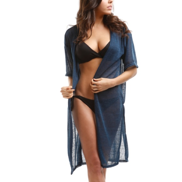 42fc0c1e8 Simple Feather Boutique Swim | Navy Blue Sheer Cover Up | Poshmark
